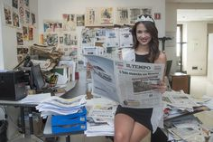 Miss Roma in visita alla redazione de Il Tempo
