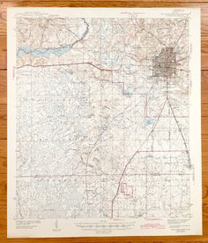 Antique Tallahassee Florida 1927 Us Geological Survey Topographic Map
