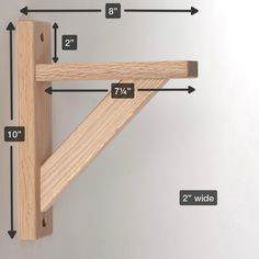Straight 8 Wood Shelf Bracket