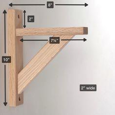 Straight 8 Wood Shelf Bracket