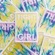 Fight Like A Girl Iron On Patch Feminist Patch por fairycakes