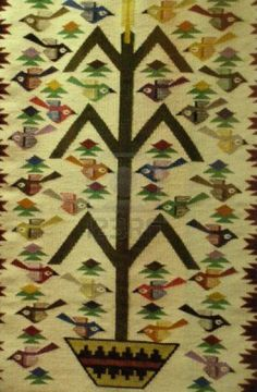 Navajo Tree of Life rug ~