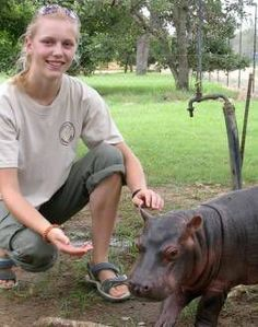 Gap year volunteer at a Wildlife Rehabilitation Centre in Africa