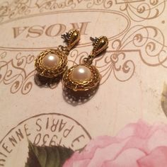Drop Earrings  Neiman Marcus Earrings rarely worn and cleaned for buyer. No trades !! ☺️ Neiman Marcus Jewelry Earrings