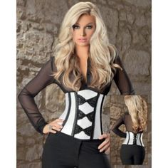 a1da20e15d World s Largest Online Adult Superstore  Satin and bow lace waist cincher  soft ivory black 36