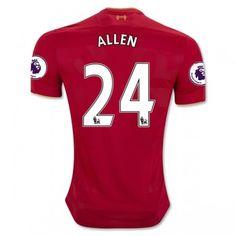 Liverpool 16-17 Joe Allen 24 Hemmatröja Kortärmad  #Fotbollströjor