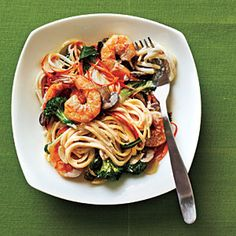 Budget Cooking: Feed 4 for $10 | Creamy Linguine with Shrimp and Veggies | CookingLight.com