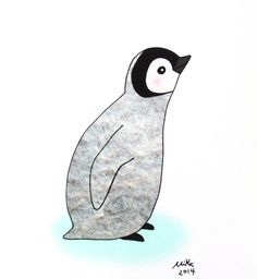 Baby Penguin Illustration Print Cute Penguin Drawing by mikaart $8.99 and up
