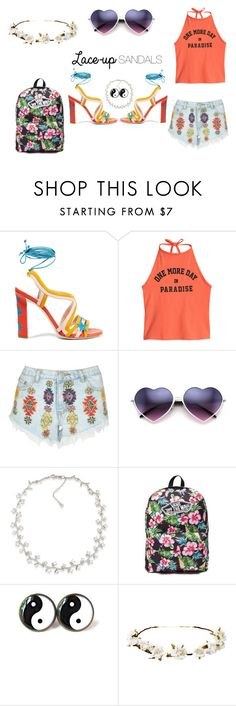 """""""Groovy Baby"""" by fabulous-moth on Polyvore featuring Paula Cademartori, Lipsy, Carolee, Vans, Cult Gaia, contestentry, laceupsandals and PVStyleInsiderContest"""