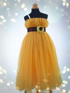 Buy Girls Sunshine Blooms Flower Tutu Dress (W Head Rose) Online Indi Girls Party Wear, Rose Online, Girls Tutu Dresses, Tulle, Bloom, Skirts, How To Wear, Fashion, Moda