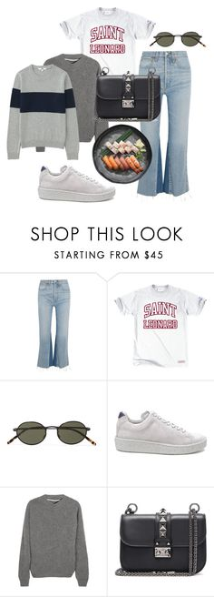 """""""Untitled #50"""" by fridaottosson ❤ liked on Polyvore featuring RE/DONE, Oliver Peoples, Eytys, The Elder Statesman, Valentino and Uniqlo"""