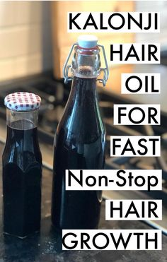 Kalonji seeds hair oil to promote hair growth #hair #hairgrowth #haircare #kalonji #haircaretips #beauty #oil #hairoil