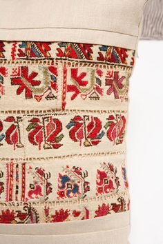 Greek Island Embroidery and Pull Work Pillows. image 4