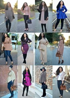 An entire YEAR of outfits for curvy-ladies. Hot hot hot.
