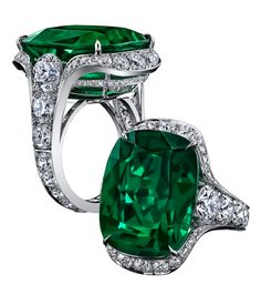 cushion emerald ring - Google Search