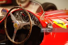 A Ferrari SpA 1955 555 formula one automobile sits on display at the the Ferrari museum in Maranello, Italy, on Thursday, Oct. 15, 2015. Fiat Chrysler Automobiles NV's spinoff of Ferrari will end up raising more than $4 billion for the Italian-American automaker as it squeezes a higher cash payment out of the supercar brand before it becomes independent. Photographer: Marc Hill/Bloomberg via Getty Images