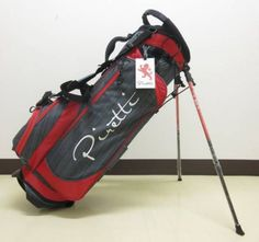 a51065c7ca43 F S Piretti Golf Stand Bag Gray   Red color very rare ship from Japan