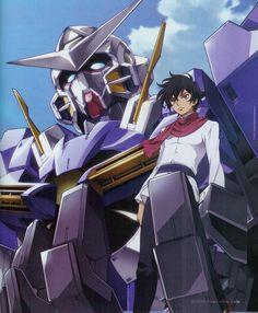 Mobile Suit Gundam 00 - GN-001 Gundam Exia and Setsuna F Seiei