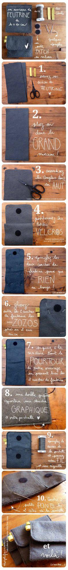 Tuto porte-cartes Edwige Bufquin pour la Cravate Solidaire