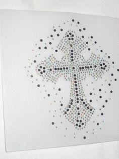 Diy Iron on Beautiful Bling Cross for Jeans Pockets by cthorses66, $4.50