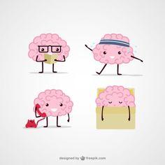 Ilustración de cerebros de dibujos animados Vector Gratis Cerebro Dibujo  Animado 7934f5799a0e