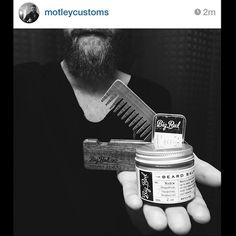 New No.22 Double Deuce and other Big Red beard gear making their way to happy beards around the world. Photo courtesy of @motleycustoms #bigredbeardcombs #beard #badass #beards #bearded #beardcomb #woodcomb #pocketcomb #beardbalm #beardoil #mustachewax #beardsofinstagram #gingerbeard #gentleman #girlswholovebeards