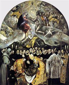 El Greco - El Entierro del Conde de Orgaz, 1587, Toledo.