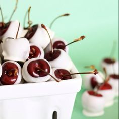 Chocolate covered cherries soaked in Godiva liquor  overnight before dipped in chocholate