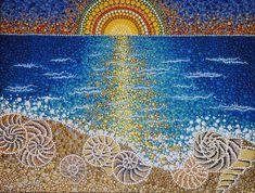 #dotart #dotilism #dotpainting #acrylicpainting #sea #seapainting #sunset #shells #lusanta #art_whisper