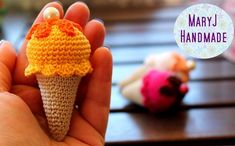 MaryJ Handmade: Tutorial: gelato all'uncinetto | How to crochet an icecream
