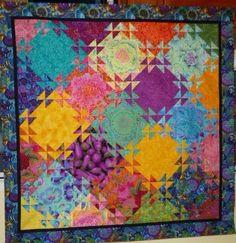 Shimmering Triangles  (pattern by Jenny Bowker)
