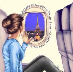 Travel to Paris / Viaggiare verso Parigi - Illust. by Kristina Webb