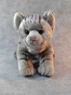 """Nat & Jules Gray Tabby Cat Plush Toy Stuffed Animals Collectable Soft 15"""" long"""