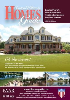 New issue of the Central Illinois Homes Guide online!! Every home is interactive, just click to view more photos and information. The Homes Guide is the perfect publication if you are buying, selling, or even just curious about homes! #realestate #homesforsale #CIHG #Peoria #IL #centralillinois http://read.uberflip.com/i/168780