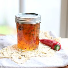 Food Photography Deliciously Easy Homemade Hot Pepper Jelly Recipe - A Fork's Tale Jalapeno Jelly Recipes, Pepper Jelly Recipes, Serrano Pepper Jelly Recipe, Red Pepper Jelly, Bell Pepper, Pepper Relish, Jam Recipes, Pepper Jelly, Marmalade