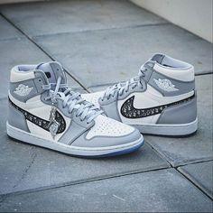 Air Jordan 1 Retro High Dior CN8607-002 Shoes Heels Wedges, Shoes Sneakers, Sneakers Wallpaper, Air Jordan Sneakers, Jordan 1 High Og, Luxury Bags, Sneakers Fashion, Fashion Shoes, Air Jordans