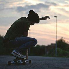Boy longboarding
