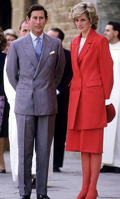 April 23, 1985: Prince Charles & Princess Diana visit the San Miniato Church in Florence, Italy. Day 5