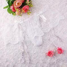 Floral Lace Suspender G-String Hold Stocking Garter Belts