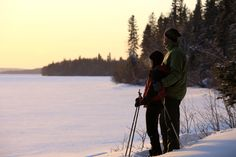 Cross country skiing in the park, a winter favorite!