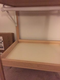 IKEA SNIGLAR changing table converts to a toddlers Mini Closet
