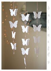 3D paper butterfly mobile