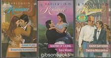 Lot of Three Harlequin Romances Rosemary Hammond/Sara Wood/Debbie Macomber