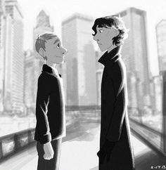 Sherlock, Disney style. :) I like the Disney style.  I really want to see this as the actual episodes.  That would be awesome!!