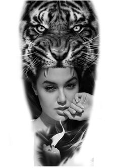 #tigertattoo #womaportrait #realistictattoo #sleevetattoo