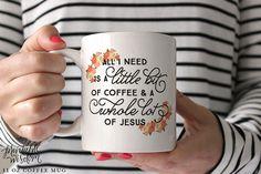Coffee Mug Ceramic mug quote mug all I need is por PrintableWisdom