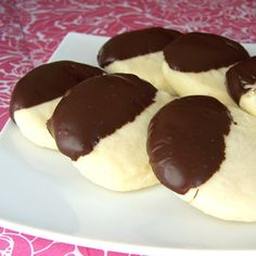 Whipped Shortbread dipped in chocolate-same as my mom's.  **made and turned out awesome, dipped in Belgian chocolate**