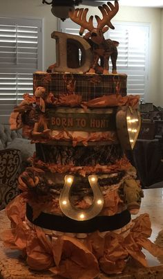Camo Diaper Cake Born to Hunt