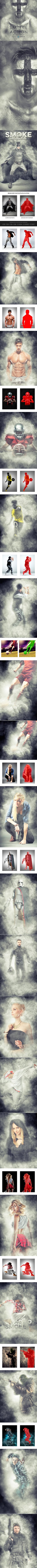 Smoke Photoshop Action - Photo Effects Actions