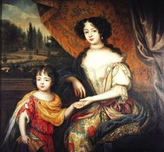 Charles Lennox Duke of Richmond son of Charles II and Louise de Keroualle with his mother by Henry Gascard Adele, Stuart Dynasty, Catherine Of Braganza, Charles Ii Of England, Margaret Tudor, House Of Stuart, English Monarchs, Uk History, Mary Queen Of Scots